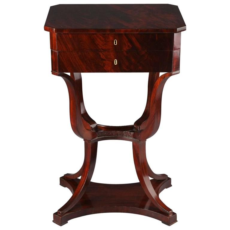 19th Century Biedermeier Sewing Table