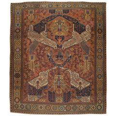 Antique Caucasian Flat-Weave Soumak Rug