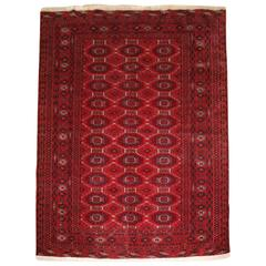 Old Yomut Turkmen Rug of Very Fine Weave and Traditional Design