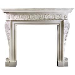 Robert Adam Style Marble Fireplace