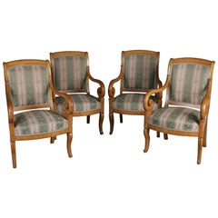 19th Century France Furnished Armchair Group