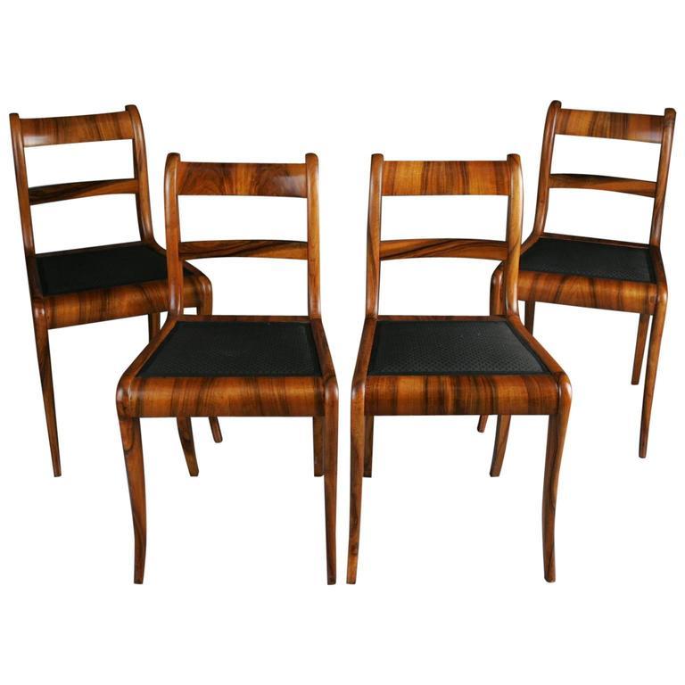 19th Century Set Of Biedermeier Chairs At 1stdibs