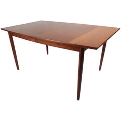 Mid-Century Modern Walnut Dining Table by Drexel