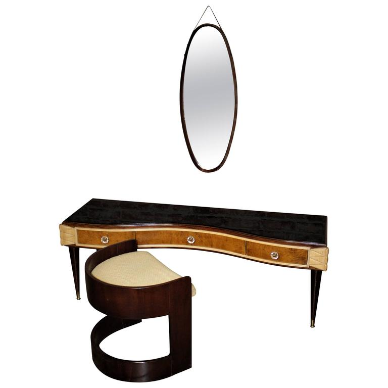 Italian Vanity, Style of Paolo Buffa For Sale