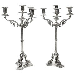 19th Century Pair of Victorian Four-Light Candelabra H Woodward