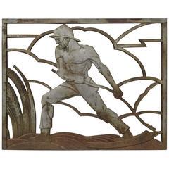 Art Deco Iron Panel