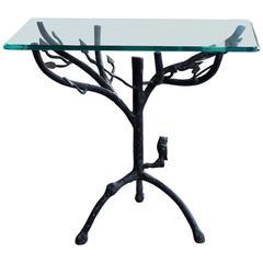 Giacometti Style Table with Owl