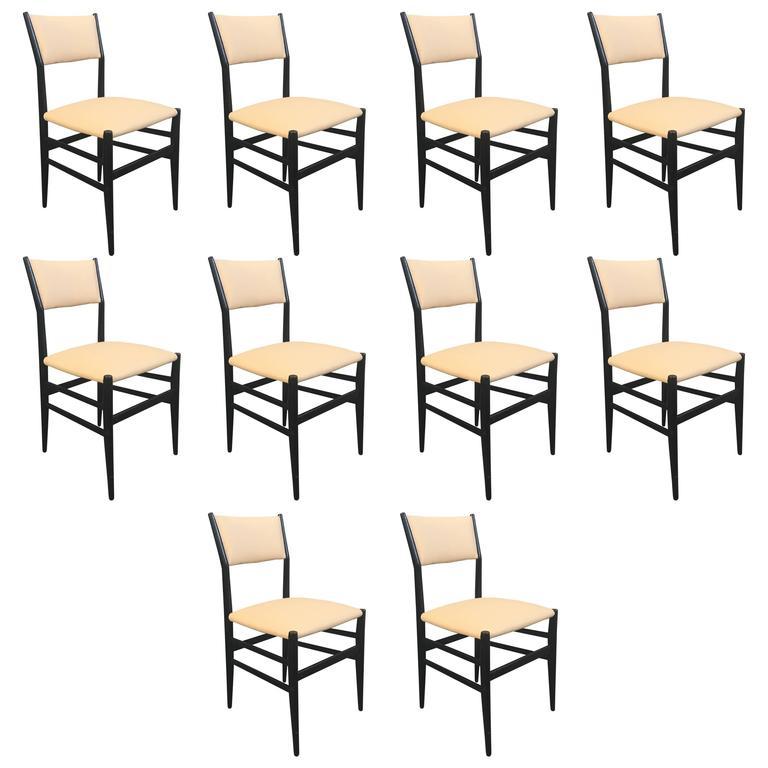"""Set of Ten """"Leggera"""" Chairs by Gio Ponti"""