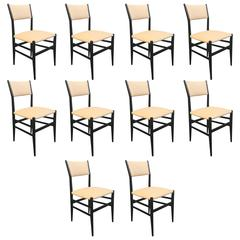 "Set of Ten ""Leggera"" Chairs by Gio Ponti"