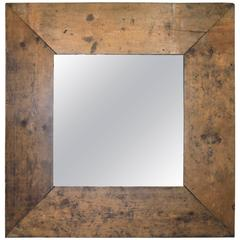 French Mirror Frame of Antique Wood and Glass