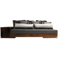 Custom Modern Sofa in Rosewood with Shelving from Costantini, Patone