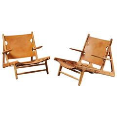 "Pair of ""Hunting Chairs"" by Børge Mogensen"