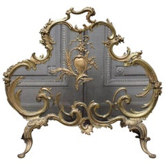 French Louis XV Style Bronze Fire Screen
