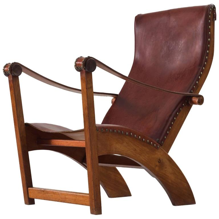 Mogens Voltelen Copenhagen Chair in Mahogany and Original Cognac Leather 1