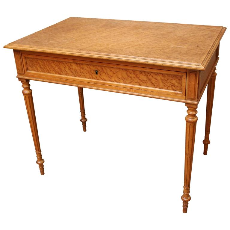 French, Louis XVI Style Maple Writing-Side Table
