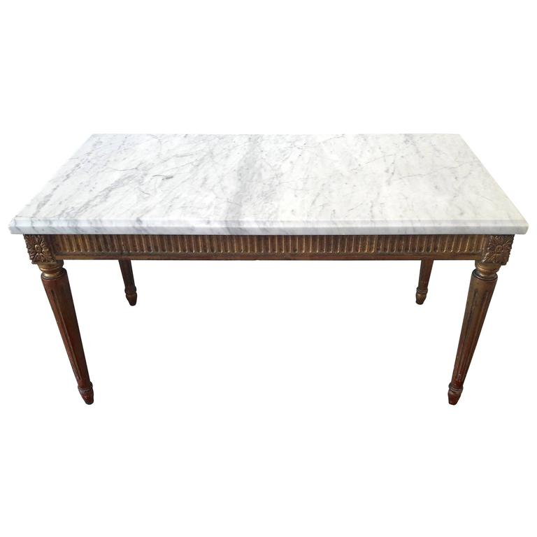 Antique Louis Xvi Style Coffee Table Marble Top At 1stdibs