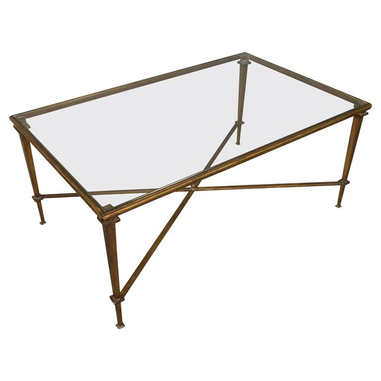 1940 Style Glass Coffee Table