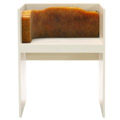 707 Lounge Chair - Modern Sculpture in Natural Rubber and Corian