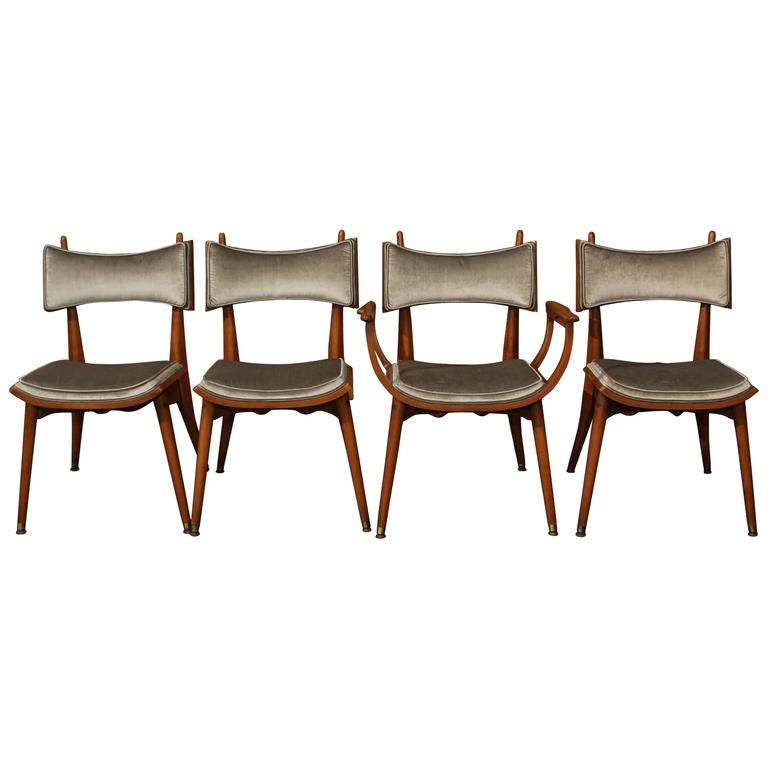 Set of Four Mid-Century Chairs 1