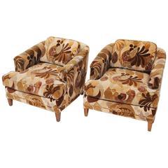 Henredon Lounge Chairs with Jack Lenor Larsen Fabric