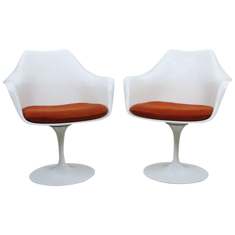 Pair of Eero Saarinen Tulip Armchairs for Knoll International, USA, 1956