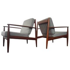 Grete Jalk for France & Daverkosen Lounge Chairs, 1960s