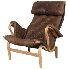 Bruno Mathsson Pernilla Lounge Chair Produced in Sweden