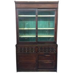 J.D. Warren Oak Seed Cabinet