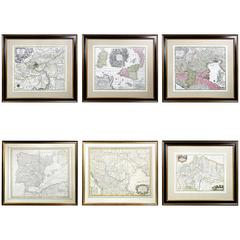 Six Framed Maps of Europe