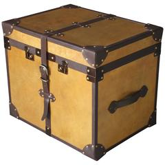 Sancia Campaign Style Custom Trunk in Parchment from Costantini