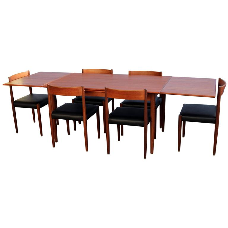 Poul Volther Chairs And Expansive Danish Teak Dining Table Set At