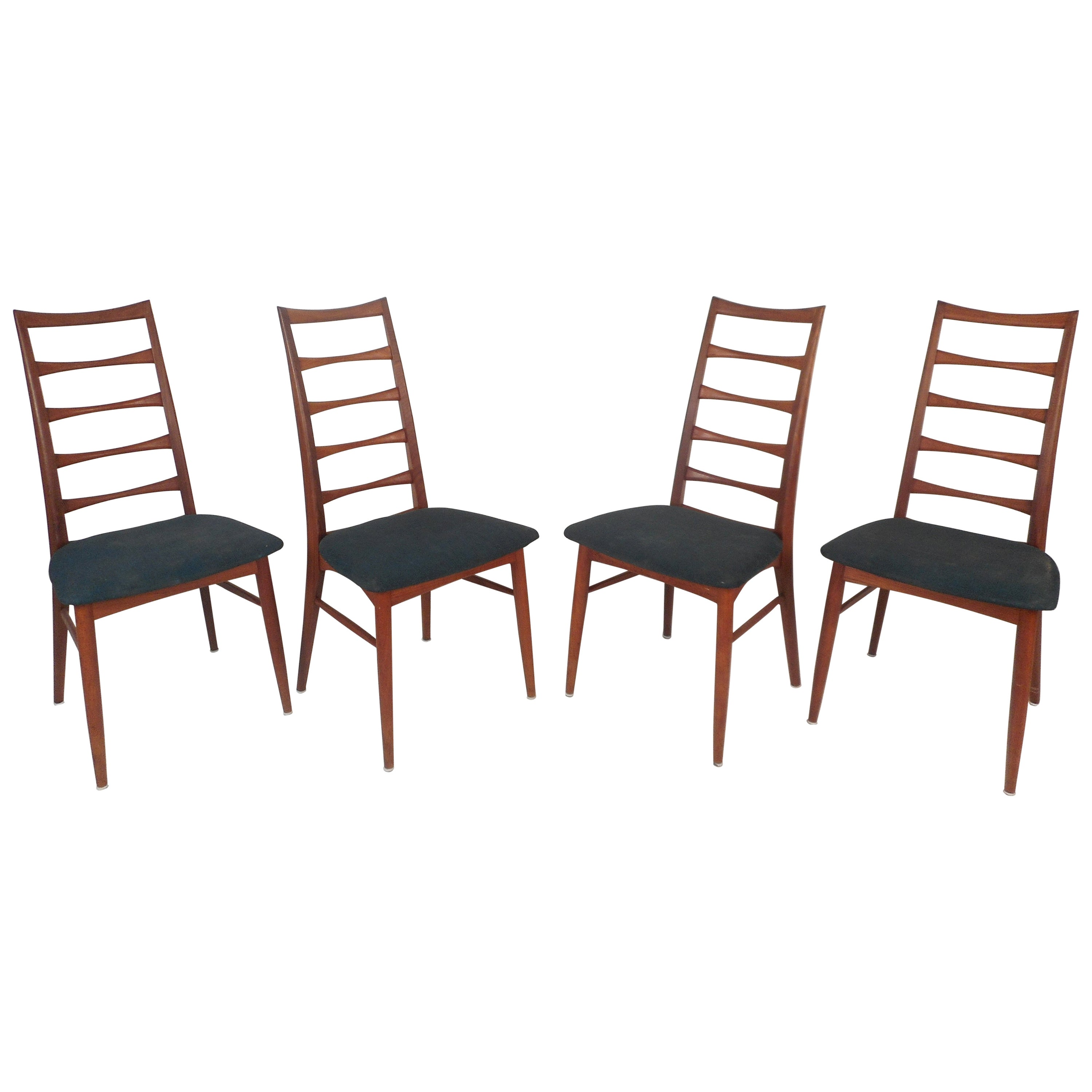 Set of Four Mid-Century Modern Ladder Back Dining Chairs by Niels Kofoed