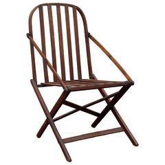Walnut Folding Camp Chair