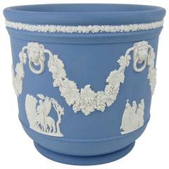 Wedgwood Blue Jasper Ware Neoclassical Cachepot or Jardinière
