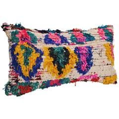 Custom Pillow Cut from a Hand Loomed Wool Moroccan Berber Rug