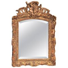Regence to Louis XV Transitional Style Giltwood Mirror