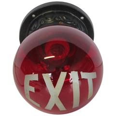 1920s Exit Sign Wall Sconce