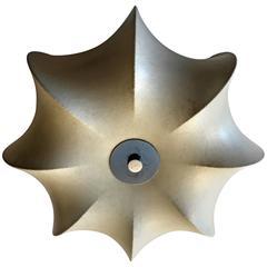 Italian Castiglioni 1960s Space Age Flush Ceiling Light