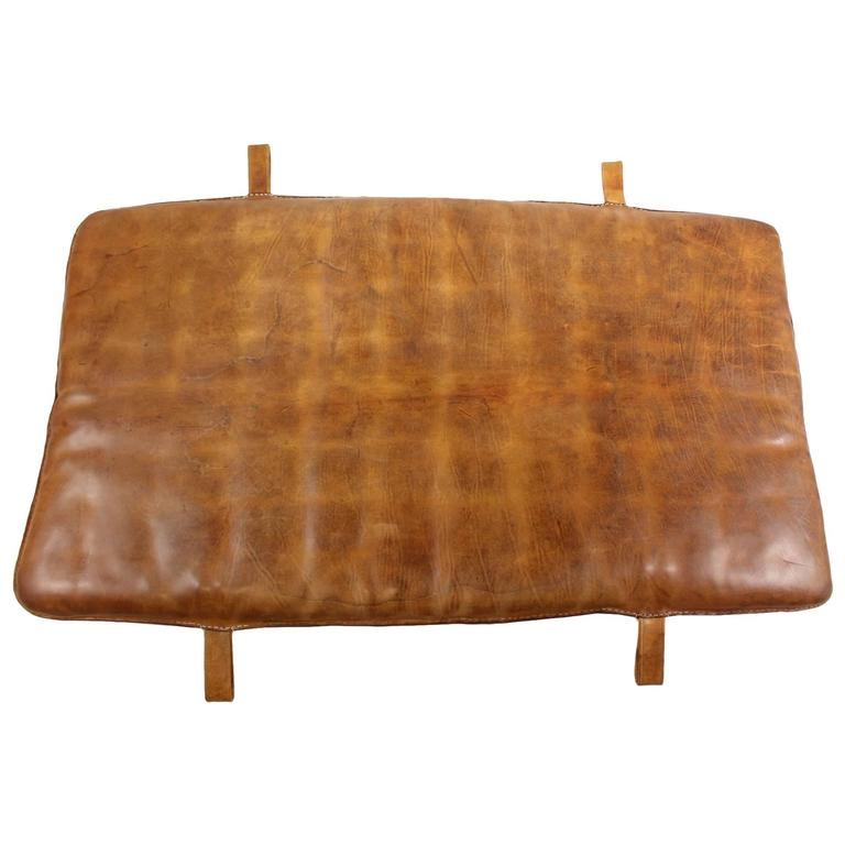 1950s Leather Gym Mat At 1stdibs