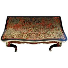 Games Table in Boulle Marquetry Napoléon III Period, 19th Century