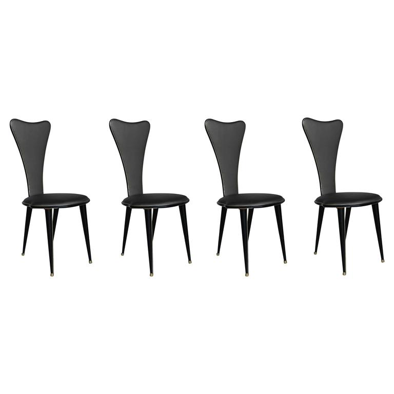 Four Umberto Mascagni Chairs, Harrods Series