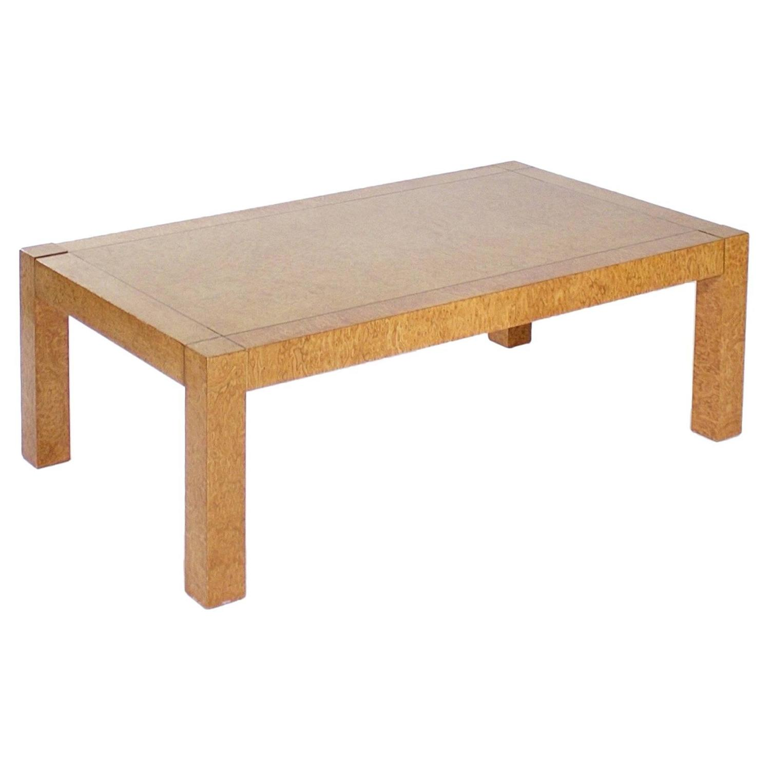 Rectangular Burr Elm Coffee Table by G Plan For Sale at 1stdibs