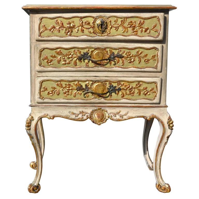 Period German Mid-18th Century Neoclassical Painted Commode