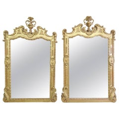 Pair of Palatial Italian Gilt Carved Mirrors