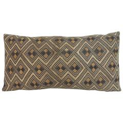 Vintage Handwoven Camel and Brown African Tribal Decorative Lumbar Pillow
