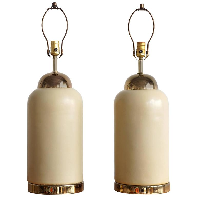 Art Deco Inspired Ceramic Lamps