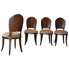 Set of Four Venetian Grotto Chairs
