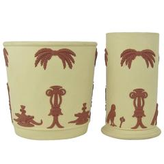 Wedgwood Egyptian Terracotta on Primrose Solid Jasper Garden Pot and Vase