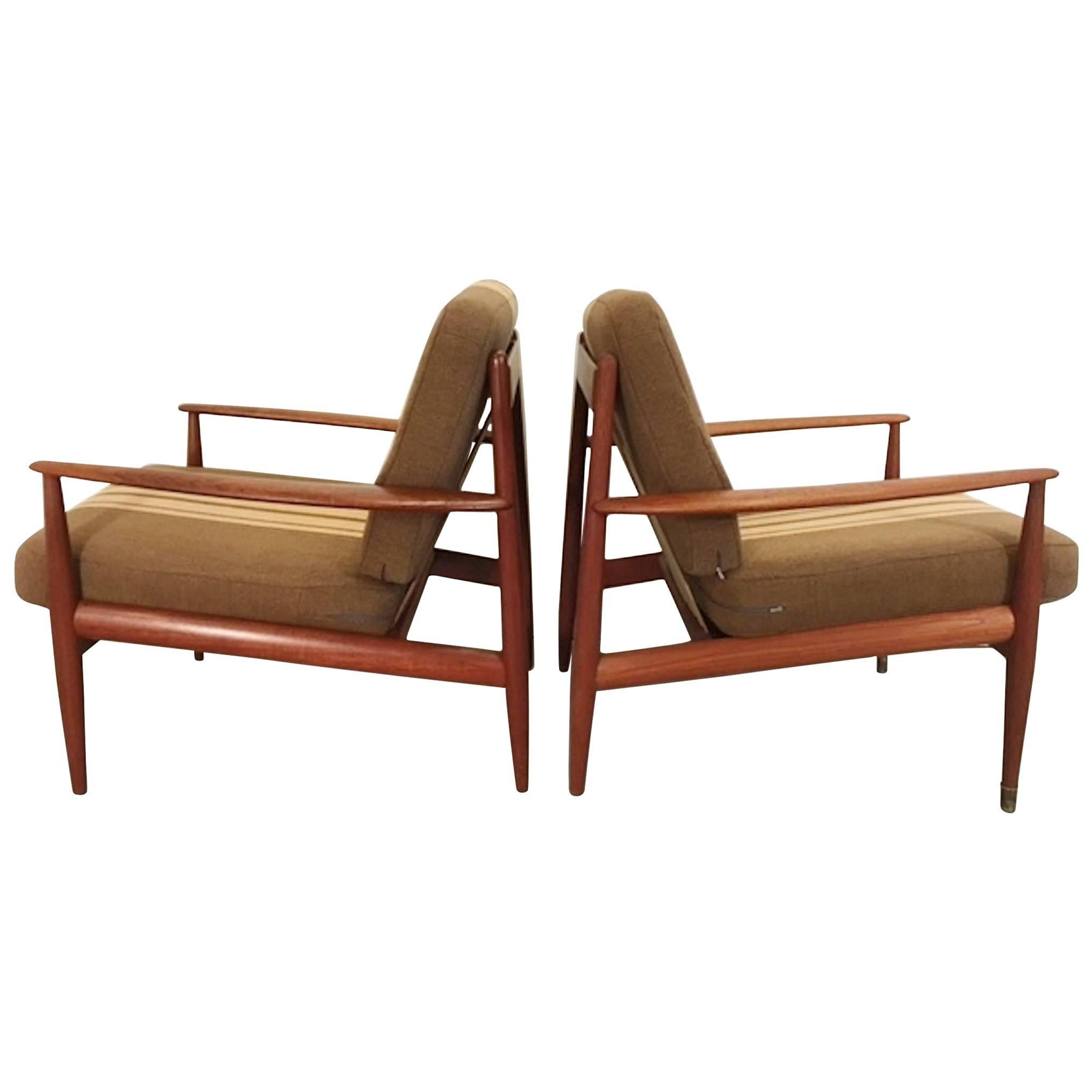 Pair of Teak Armchairs by Grete Jalk