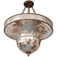 Whimsical Mirrored Mosaic Suspension or Disco Ball
